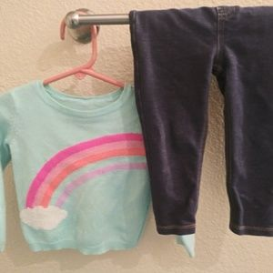 Rainbow Sweater and Garanimals Jeggings 18months